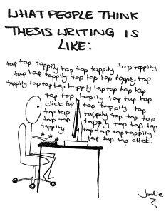 People think thesis writing is like